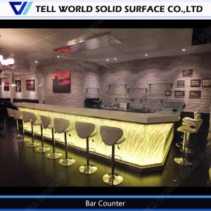China Straw Design Solid Surface Furniture L Shaped Custom Made ...