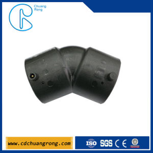 HDPE Single Wall Eletrofusion Oil Pipe Fittings 45 Degree Elbow pictures & photos