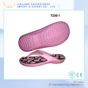 Cute Pink EVA Flip Flops with fashion Flower Insole pictures & photos