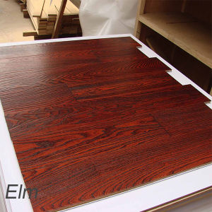 Elm Brushed Solid Wood Flooring Hardwood Floor for Stain Color pictures & photos