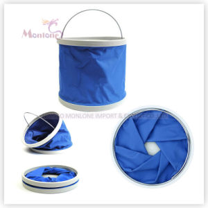 Household Cleaning Tool Oxford Folding Bucket 9L pictures & photos