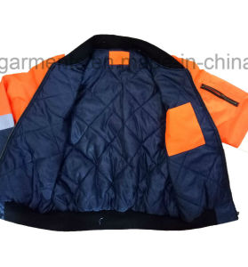 Winter Waterproof Protective Apparel Hi-Viz Reflective Safety Rain Jacket Padded Pilot Garment pictures & photos