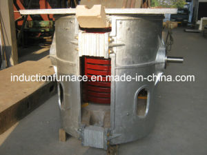 380V High Quality Portable Tilting Induction Gold Scrap Melting Furnace pictures & photos