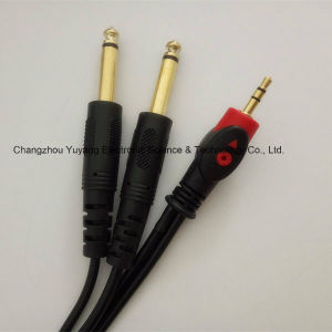 Fisheye 3.5stereo-to-2X6.35mono Audio/Microphone Cable pictures & photos