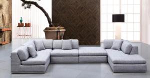 Modern Home Furniture Living Room Sofa Fabric Sofa Set (HC566) pictures & photos