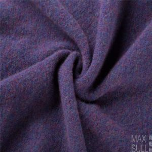 Yark Hair and Wool Fabric with Knitted for Winter in Purple pictures & photos