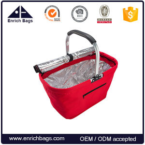 Foldable Insulated Collapsible Picnic Basket with Aluminum Frame and Handle pictures & photos