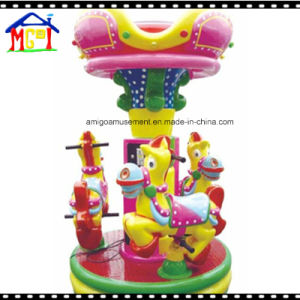 3 Seats Small Donkey Roundabout Kiddie Ride for Indoor Playground pictures & photos
