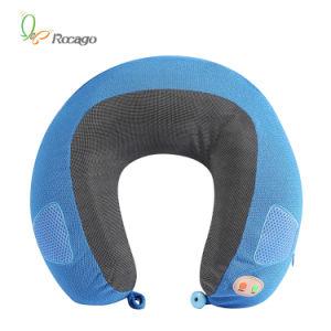 Slow Memory Foam U Shape Vibration Music Neck Massage Pillow pictures & photos