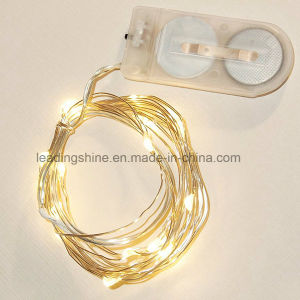 Coin Battery Operated Fairy Seed String Light in Silver Wire pictures & photos