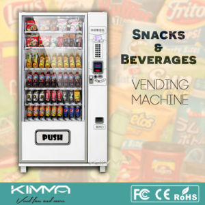 Mdb Protocol Operated Vending Machine with Refrigerated System pictures & photos