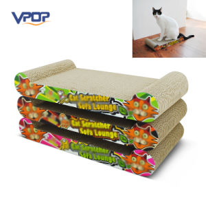 Colorful Carton Corrugated Cat Furniture Scratcher Sofa Lounge