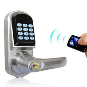 Zinc Alloy Remote Control Smart Door Lock with Password pictures & photos