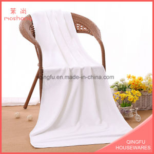 Star Hotel White Color Towel Microfiber Bath Towel pictures & photos