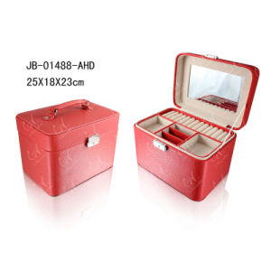 Professional Jewellery Case for Display Leather Travel Jewelry Box pictures & photos