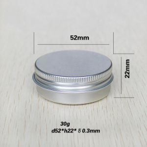 30g 1oz Metal Lip Balm Tin Container Aluminum Cans pictures & photos