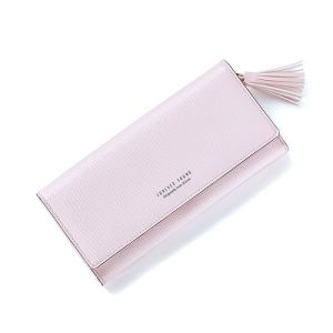 Pink Hot Sale Logo Print Fashion Women Wallet