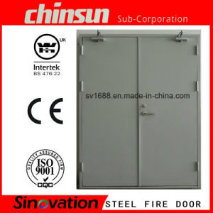 Double Steel Fire Door with BS and UL Certificate pictures & photos