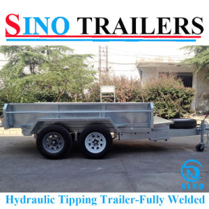 8X5 Heavy Duty Fully Welded Hydraulic Tipping Trailer pictures & photos