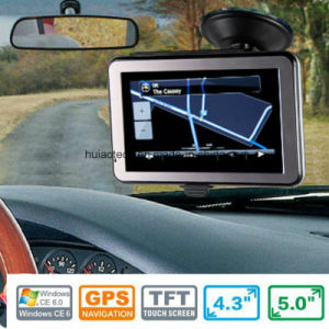 "Classic Portable Handheld 4.3"" in-Dash Car Moto Navigation Built-in Glonass GPS Module, FM Transmitter, Wince 6.0, Car GPS Receiver Antenna GPS Navigator G-4301 pictures & photos"