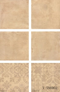 Interior Decorative Flooring Ivory White Matte Different Faces Cement Floor Tile (600X600mm)