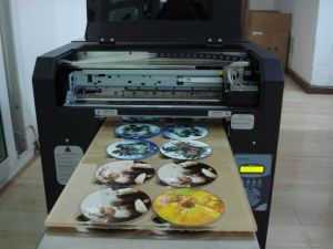Desktop A3 UV LED Flatbed Printer for CD Printing pictures & photos