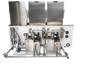 Tense 3 Tanks Ultrasonic Cleaning Machine with Dry Tank pictures & photos