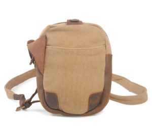 Real Leather Canvas Travel Leisure Shoulder Chest Bag (RS-6813) pictures & photos