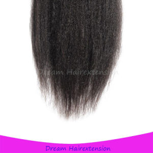 Kinky Straight Hair Brazilian Lace Closure 4*4inch 12inch pictures & photos