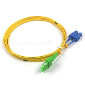 Sc/APC-Sc/Upc Single Mode Duplex Fiber Optic Patch Cord/Cables pictures & photos