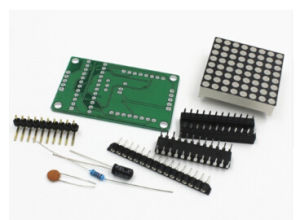 DIY Starter Kit Max7219 Trousse 8 DOT Matrix 8*8mm Cathode LED Display Module Board Panel Max7219 Microcontroller Compatible pictures & photos