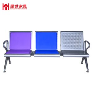 High Quality Bus Station/Airport/Hospital Metal Bench Airport Polyurethane PU Waiting Row Chair with 2.3.4.5 Seater pictures & photos