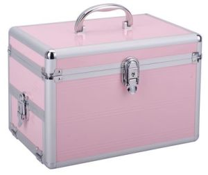 Aluminum Bar Cosmetic Case/Box/Beauty Bag Aluminum Make up Case pictures & photos