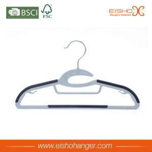 Premium Quality Grey Color Velvet Clothes Hanger pictures & photos