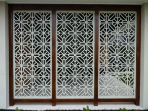 Decorative Aluminum Perforated Laser Cut Outdoor Metal Garden Screen