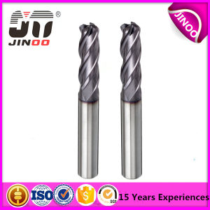 Solid Carbde Long Shank End Mills 4flutes for Steel pictures & photos