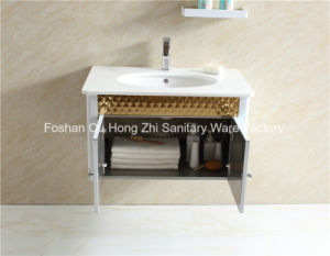 Golden White Stainless Steel Bathroom Vanity with Shelf for MID-East Country pictures & photos
