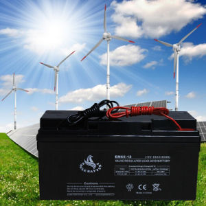 12V 65ah VRLA Rechargeable Lead Acid Battery for Solar