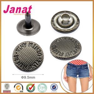 Garment Button Alloy Metal Jeans Rivet