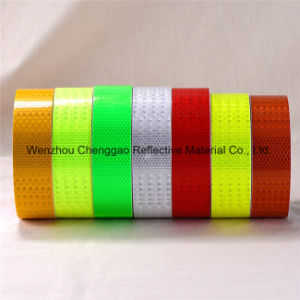 PVC Honeycomb Pattern Conspicuity Yellow Reflective Safety Tape (CG3500-OY) pictures & photos
