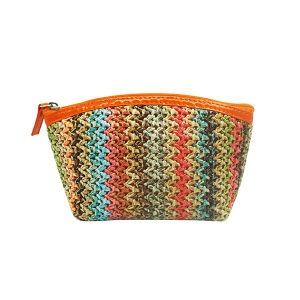 Multicolored Weave Matting 100% PP Makeup Cosmetic Bag pictures & photos