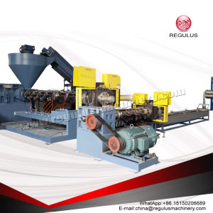 PP Scrap Two Stages Hopper Feeding Plastic Recycling Machine pictures & photos