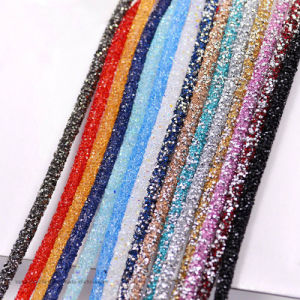 2017 New Strass Rhinestone Chain Tube Crystal Beads Trim Bridal Applique Trim Banding (TT-001) pictures & photos