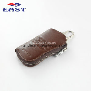 Customized Brown PU Leather Key Wallet pictures & photos