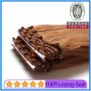 Light Brown Micro Ring Hair Weft pictures & photos