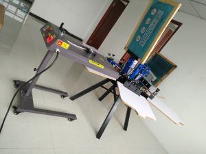 6-Color T-Shirt Textile Colour Silk Screen Printing Machine pictures & photos