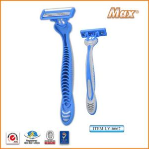 Hot Selling Triple Blades Disposable Shaving Razor pictures & photos