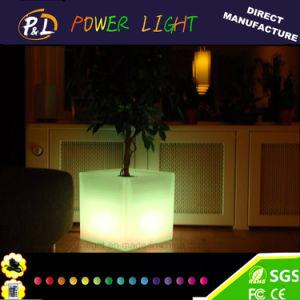 Color-Changing Garden Decor LED Plastic Square Flower Pot pictures & photos