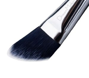 Metallic Handle Oblique Synthetic Hair Face Foundation Brush pictures & photos