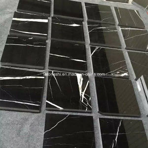 Cheap Price Design Absolute Black Granite Tile Flooring for Floor pictures & photos
